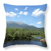 Katahdin From Abol Bridge Throw Pillow