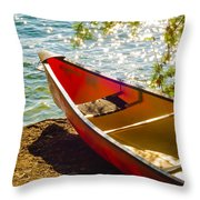 Kayak By The Water Throw Pillow