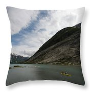 Kayaking To The Nigardsbreen Glacier Throw Pillow