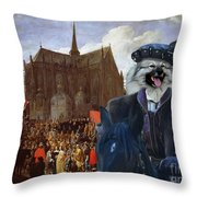 Keeshond Art Canvas Print Throw Pillow
