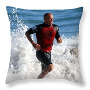 Kelly Slater World Surfing Champion Copy Throw Pillow