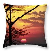 Kenyan Sunset Throw Pillow