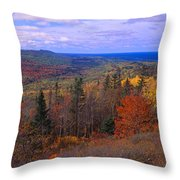 Keweenaw Peninsula And Copper Harbor Throw Pillow