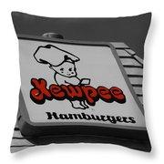 Kewpee Restaurant Throw Pillow