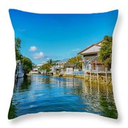 Key Largo Canal 3 Throw Pillow