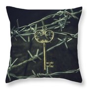 Key Of A Treasure Chest Throw Pillow