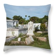 Key West Cemetery Throw Pillow