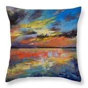Key West Florida Sunset Throw Pillow