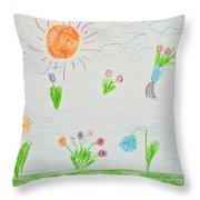 Kid's Artwork Throw Pillow
