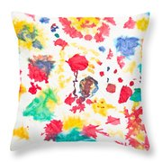 Kid's Artwork Colorful Background Throw Pillow