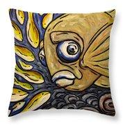 Responsible Fish Throw Pillow