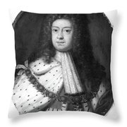 King George I (1660-1727) Throw Pillow