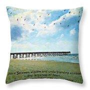 1 Kings 4 29 Pier Throw Pillow