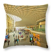 Kings Cross Railway Station London  Throw Pillow