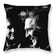 Kirk Douglas Laughing Johnny Cash Old Tucson Arizona 1971 Throw Pillow