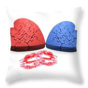 Kisses From The Heart Throw Pillow