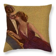 Kissing On The Chaise-longue Valentine Throw Pillow