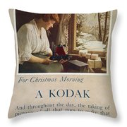Kodak Advertisement, 1914 Throw Pillow