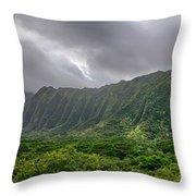 Koolau Waterfalls Throw Pillow