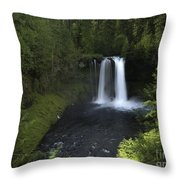 Koosah Falls Throw Pillow