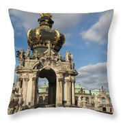 Kronentor Zwinger Dresden  Throw Pillow
