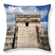 Kukulkan Pyramid At Chichen Itza Throw Pillow