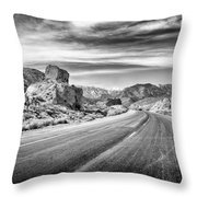 Kyle Canyon Road Throw Pillow