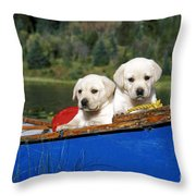 Labrador Retriever Puppies Throw Pillow