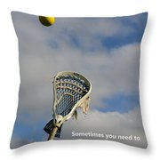 Lacrosse Reach Higher Throw Pillow