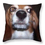 Lady 2 Throw Pillow