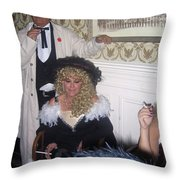 Lady And Gent Homage Celebrants Crystal Palace Saloon Tombstone Arizona 1932-2004 Throw Pillow