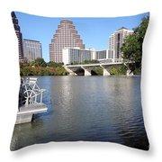 Lady Bird Lake Throw Pillow