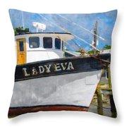 Lady Eva Throw Pillow