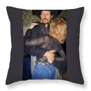 Lady For A Night Homage 1942 Dancers Crystal Palace Saloon Tombstone Arizona 2004 Throw Pillow