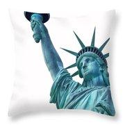 Lady Liberty  Throw Pillow by Jaroslav Frank