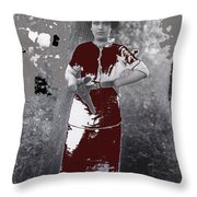 Lady Soldier Unknown Mexico Location 1905-1910-2014 Throw Pillow
