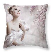 Lady Throw Pillow by Svetlana Sewell