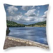 Ladybower Dam Throw Pillow