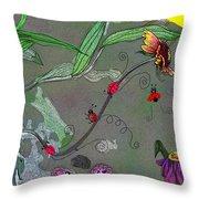 Ladybug Slide Throw Pillow
