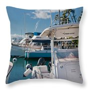 Lahaina Marina Maui Hawaii Throw Pillow