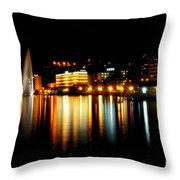Lake At Night Throw Pillow
