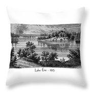 Lake Erie - 1815 Throw Pillow