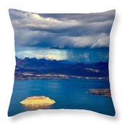 Lake Mead Afternoon Thunderstorm Throw Pillow