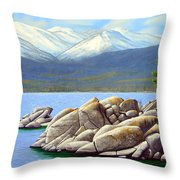 Lake Tahoe Sand Harbor Throw Pillow