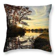 Lake Wausau Sunset Throw Pillow