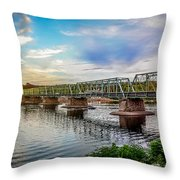 Lambertville From The Shores Of New Hope Throw Pillow