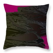 Black Magenta Bull Throw Pillow