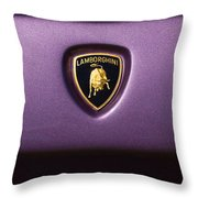 Lamborghini Diablo Se Roadster Emblem Throw Pillow