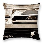 Lamborghini Rear View Emblem Throw Pillow