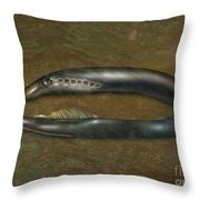 Lamprey Eel, Illustration Throw Pillow